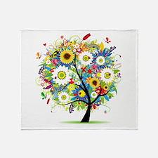 summer tree Throw Blanket