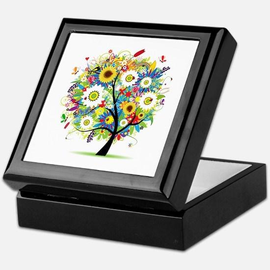 summer tree Keepsake Box