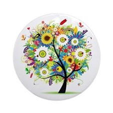 summer tree Ornament (Round)