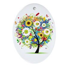 summer tree Ornament (Oval)