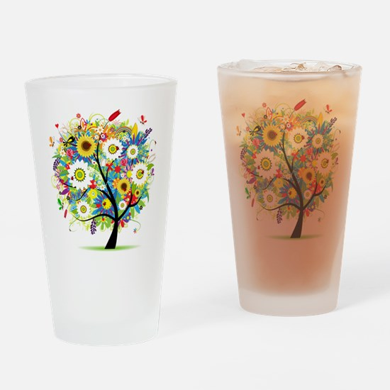 summer tree Drinking Glass