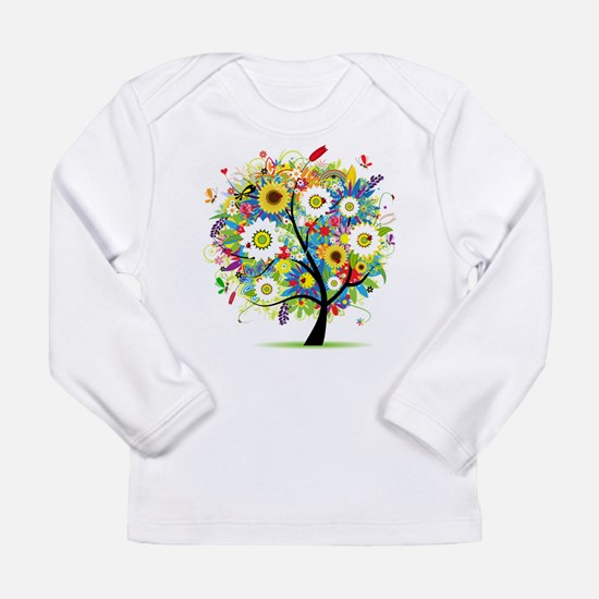 summer tree Long Sleeve Infant T-Shirt