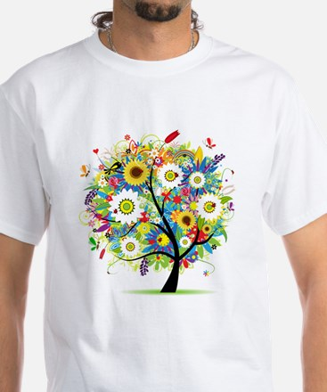 summer tree White T-Shirt