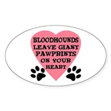 Bloodhound Pawprints Decal
