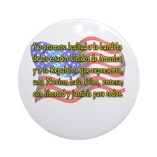 Pledge of Allegiance in Spanish Ornament (Round)