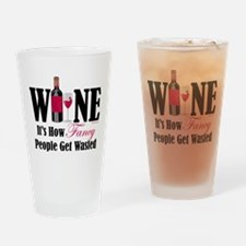 Fancy People Wasted Drinking Glass