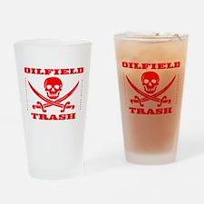 Oil Field Trash,Skull,Bones,Drinking Glass,Oil