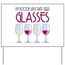 Wine Glasses Yard Sign