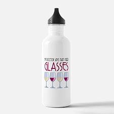 Wine Glasses Water Bottle