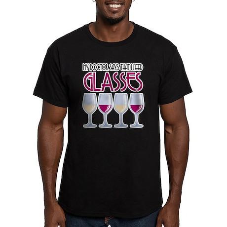Wine Glasses Men's Fitted T-Shirt (dark)