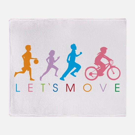 Cute Jogging Throw Blanket