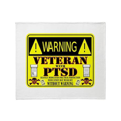 PTSD Medicated Veteran Throw Blanket