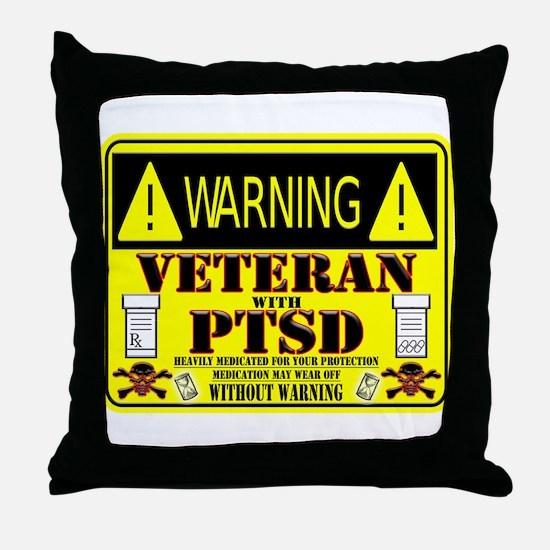 PTSD Medicated Veteran Throw Pillow