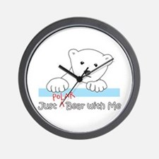 Unique Polar bear Wall Clock