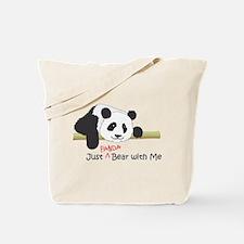 Funny Panda cub Tote Bag