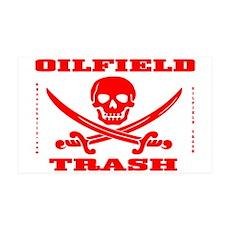 Oil Field Trash,Skull 38.5 x 24.5 Wall Peel,Oil