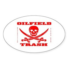 Oil Field Trash,Skull Sticker(Oval),Decal,Oil