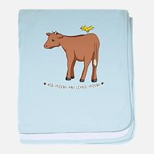 Unique Happy cow baby blanket