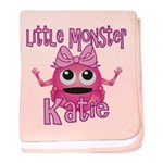 Little Monster Katie baby blanket