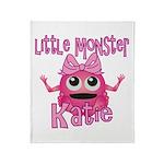 Little Monster Katie Throw Blanket