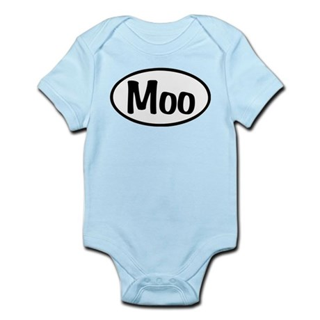 Moo Oval Infant Bodysuit