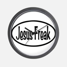 Jesus Freak Oval Wall Clock