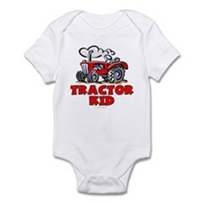 Red Tractor Kid Infant Bodysuit