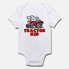Red Tractor Kid Infant Bodysuit