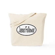 Jesus Follower Oval Tote Bag