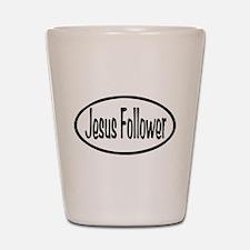 Jesus Follower Oval Shot Glass
