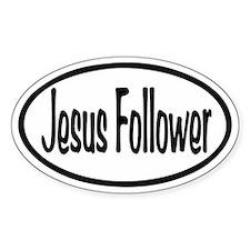 Jesus Follower Oval Decal