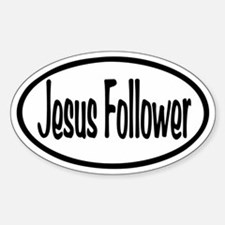 Jesus Follower Oval Sticker (Oval)
