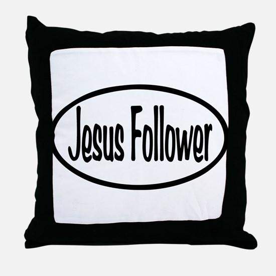 Jesus Follower Oval Throw Pillow