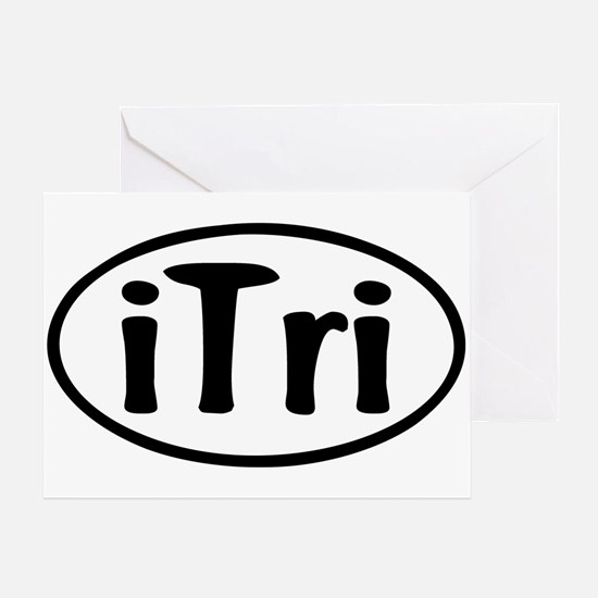 iTri Oval Greeting Card