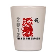 2012 Year of The Dragon Shot Glass