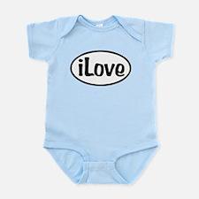 iLove Oval Infant Bodysuit
