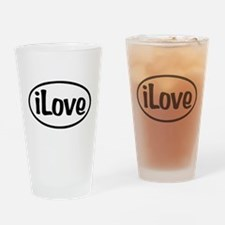 iLove Oval Drinking Glass