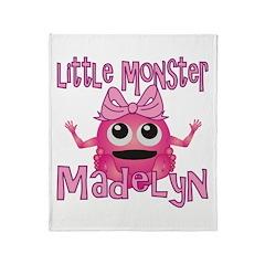 Little Monster Madelyn Throw Blanket