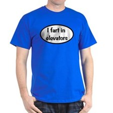 iFart in Elevators Oval T-Shirt