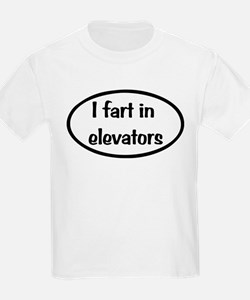 iFart in Elevators Oval T-Shirt