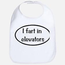 iFart in Elevators Oval Bib