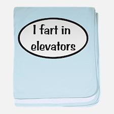 iFart in Elevators Oval baby blanket