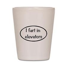 iFart in Elevators Oval Shot Glass