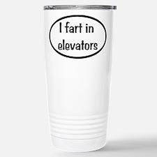 iFart in Elevators Oval Travel Mug