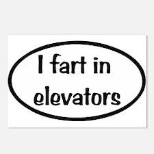 iFart in Elevators Oval Postcards (Package of 8)