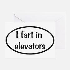 iFart in Elevators Oval Greeting Card