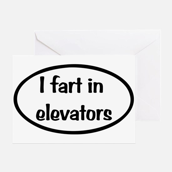 iFart in Elevators Oval Greeting Card