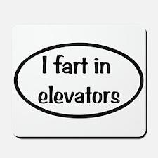 iFart in Elevators Oval Mousepad
