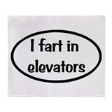Fart humor Fleece Blankets