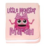 Little Monster Mariah baby blanket